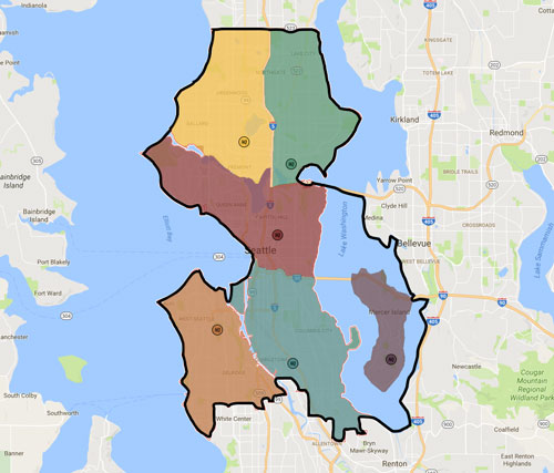 Blaze Map of Seattle